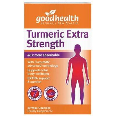 紐西蘭 good health 薑黃素 30顆 強效型 好健康 Extra strength 加強型