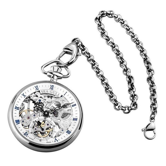 錶帶替換 錶帶 手錶配件 海鷗手表男士復古機械表懷舊鏤空懷表防水男表M3600SK大師系列手錶配件 錶帶 男女錶帶