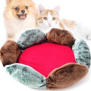 花型兩用寵物睡床寵物睡窩寵物睡墊保暖墊狗窩狗睡床狗睡墊貓床貓窩軟墊秋冬寵物用品百貨推薦哪裡買C99-0213【推薦+】