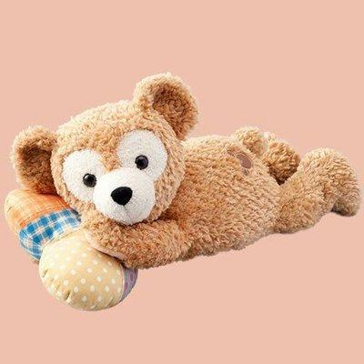 ☆愛莉詩☆日本帶回~日本迪士尼限定-情人節暖心日*達菲絨毛玩偶抱枕-趴姿