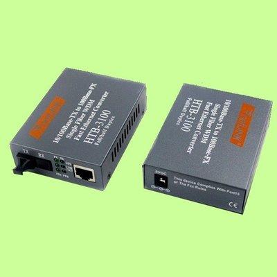 5Cgo【現貨】十對組NetLINK HTB-3100AB 3100 100M多模單纖SC光纖收發器光電轉換器含電源含稅
