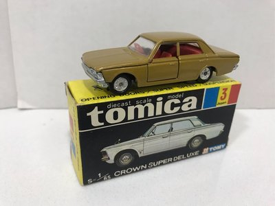Tomy Tomica 3-2 豐田大皇冠Toyota Crown Super Deluxe 1E輪 淺薄金色, 日本製制 made in Japan