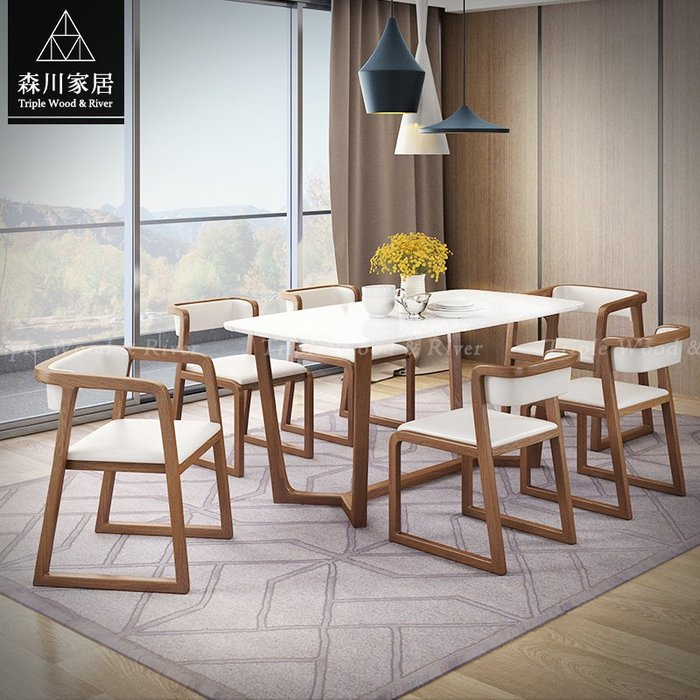 《森川家居》NRT-08RT05-北歐現代設計石面1.4米萬用桌 餐廳辦公室民宿/餐桌餐椅收納/LOFT品東西IKEA