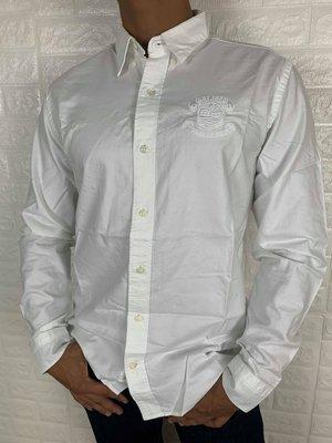 Timberland 百搭 休閒 修身 合身 白色 韓系男生長袖襯衫
