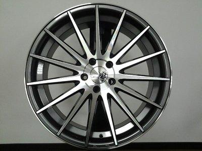 耀麒 VF2 18吋 5X120 5X112 5X114.3 BENZ BMW AUDI VW 前後配 灰車面鋁圈