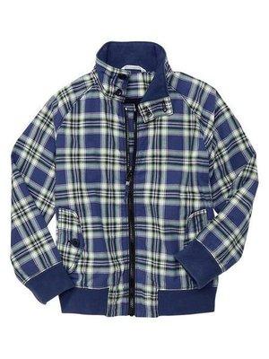 ╭☆°芒果衣櫃 新品美國 GAP Zip-front plaid jacket 藍色格紋外套 Size M 約7歲
