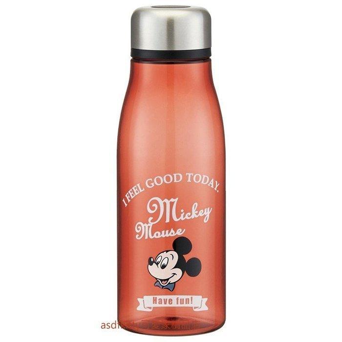 asdfkitty可愛家☆特價-米奇咖啡色透明瓶身直飲水壺/隨手瓶-500ML-輕量好攜帶-PTY5-日本正版商品