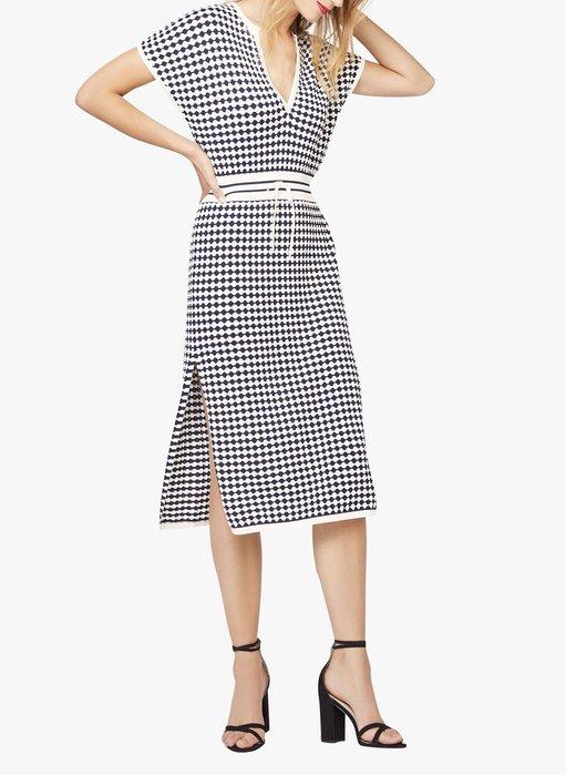 法國巴黎◇ KOOKAI 2020秋冬新款╭V領針織雙色開叉洋裝*特價4200