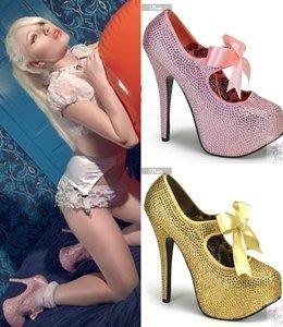 粉紅寶石高跟鞋~好萊塢明星穿搭款~(鋼管舞/車模/國標/夜店/艷舞/cosplay)~美國空運 Pleaser精品高跟鞋