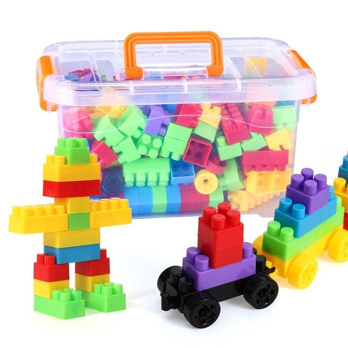 兒童智力塑料寶寶積木1-2幼兒園7-8-10益智拼裝拼插男孩3-6歲玩具WY