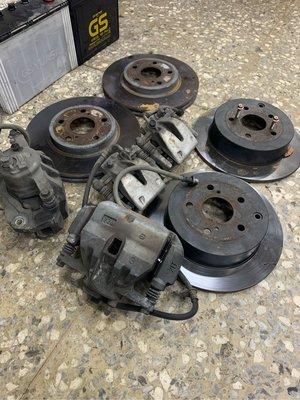 oyota previa 原廠煞車組 前後一套 卡鉗 盤子 分磅