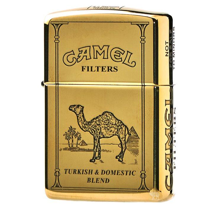 黑羊選物 Zippo Camel駱駝 經典元素 純黃銅 加厚盔甲機 五面加工 煤油打火機 美國原廠 精細復刻 適合送禮