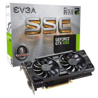 @電子街3C 特賣會@全新艾維克EVGA GTX1050 2GB SSC GAMING ACX3.0 GDDR5 PCI