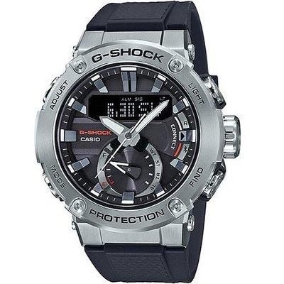 *夢幻精品屋*CASIO卡西歐 G SHOCK G-STEEL 藍牙雙顯運動錶 GST-B200-1A