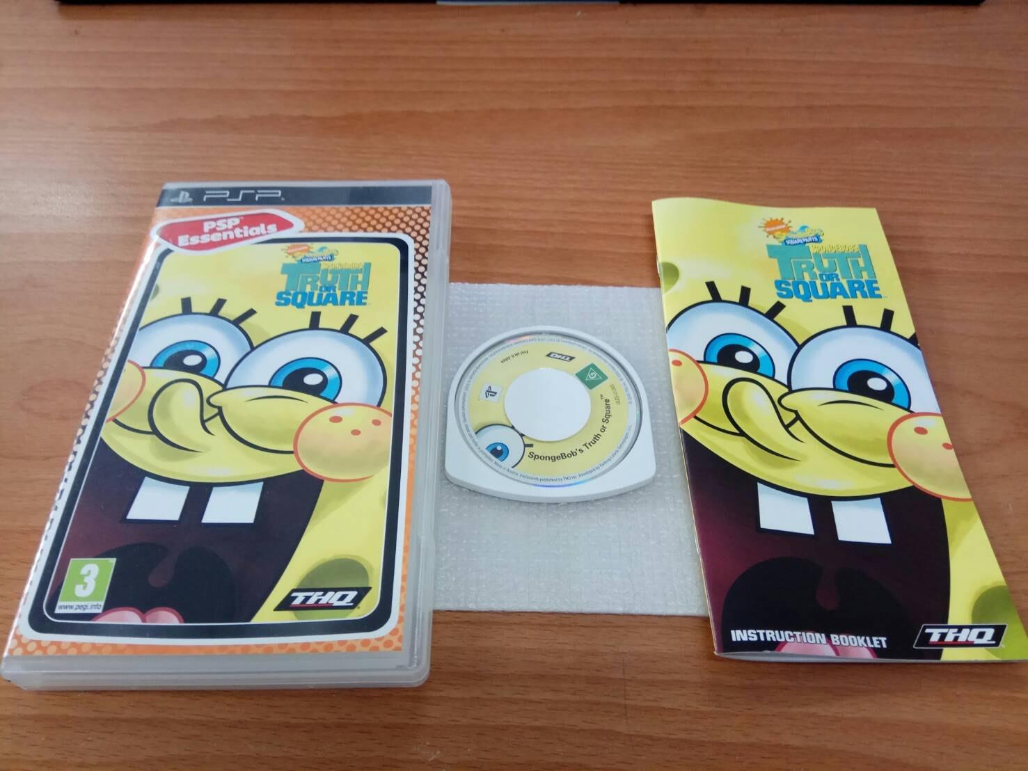 新北市板橋超便宜可面交賣PSP原版遊戲盒書都有~~海綿寶寶 皮老闆的詭計~~超便宜可直購