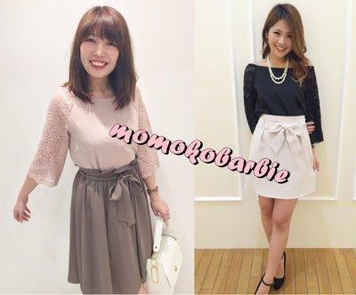 ☆搖滾甜心【AC159701】日本甜美系BE RADIANCE可露肩蕾絲袖雙層雪紡衫