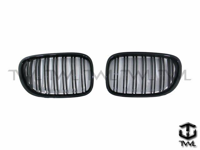 《※台灣之光※》全新寶馬BMW F01 F02 F03 08 09 10 11 12 13 14 15年雙線亮黑鼻頭組