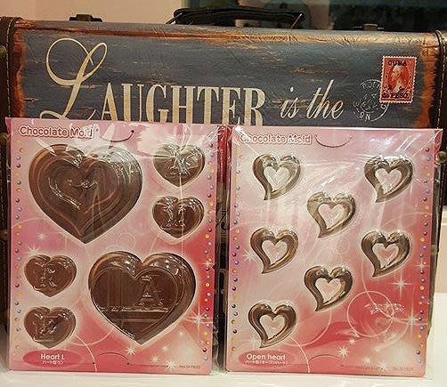 *愛焙烘焙* 日本製 塑膠巧克力模 2款可選 情人節 巧克力 DIY 造型巧克力模