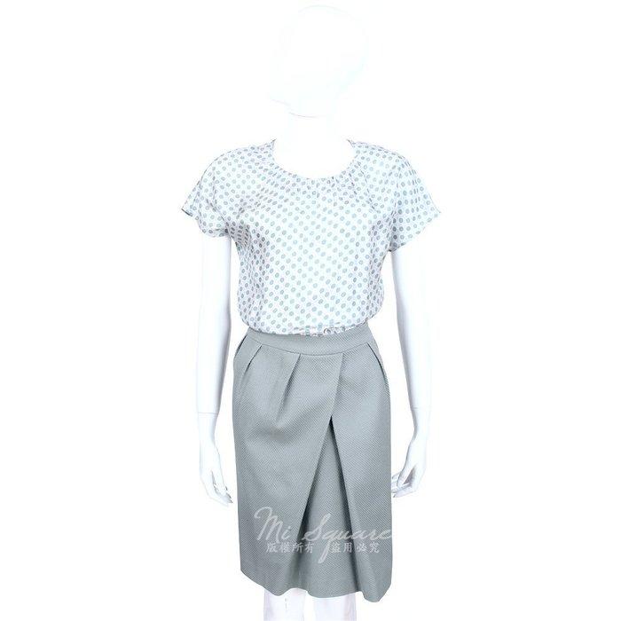 米蘭廣場 FABIANA FILIPPI 灰綠色點點印花拼接抓褶設計短袖洋裝 1420107-08