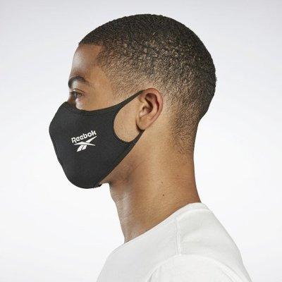 南◇現貨 REEBOK  FACE COVERS MASK 口罩 布面 可清洗 藍色 黑色 男女  面罩 黑白 運動