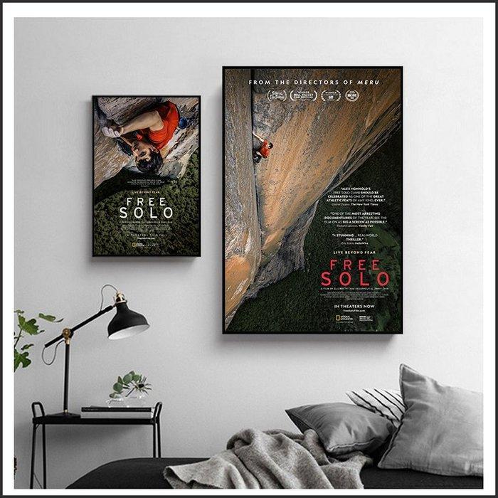日本製畫布 電影海報 赤手登峰 FREE SOLO 掛畫 嵌框畫 @Movie PoP 賣場多款海報#