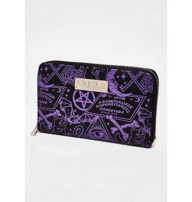 【丹】KS_Miss Morbid Wallet 符文 圖騰 紫色 風格 長夾 皮夾
