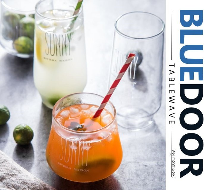 BlueD_北歐 曲線字母 胖胖 玻璃杯 玻璃杯 水杯 調酒杯 雞尾酒杯 調酒杯 冰杯高透明設計酒吧餐廳 網美風 IG款
