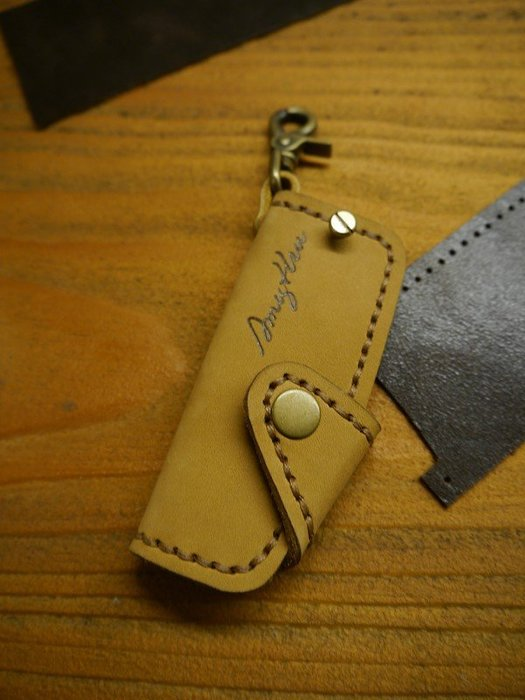 (KH手工皮件)全牛皮SUBARU速霸陸Impreza XV WRX Legacy汽車晶片鑰匙皮套.皮革女縫線可自選