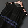 SMACHIC studio 獨立設計師品牌 / 流蘇蕾絲電光藍拼接層次洋裝 復古窗花時尚