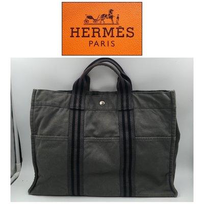 【皮老闆二店】 二手真品 Hermes 愛馬仕 手提包 凡布包 公事包 電腦包 S104
