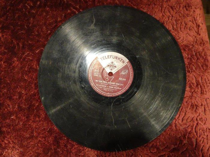 【卡卡頌 歐洲跳蚤市場/歐洲古董】德國TELEFUNKEN_Johnny & Rijk 十吋78轉 德語另類獨立黑膠唱片