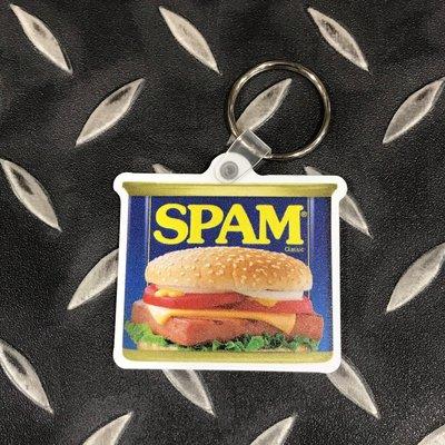 (I LOVE樂多) SPAM 美國 午餐肉 肉罐 小漢堡 鑰匙圈