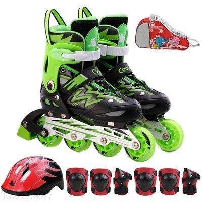 ☀無憂戶外☂美洲獅MZS835L兒童溜冰鞋套裝直排男女可調輪滑鞋 F441