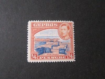 【雲品】塞浦路斯Cyprus 1938 Sc 143 MNH 庫號#78855