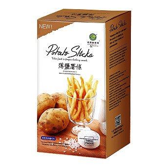 《小瓢蟲生機坊》台灣綠源寶 - 薄鹽薯條(35公克 x 3包) 零嘴 零食  薯條  薄鹽薯條  餅乾