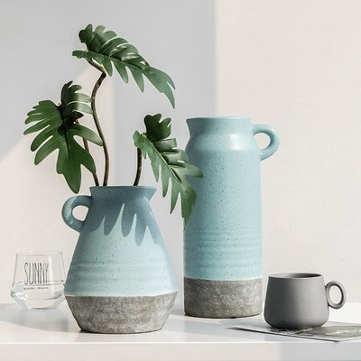 〖洋碼頭〗歐式創意陶瓷花瓶擺件裝飾品客廳房間插花花器家居後現代個性擺設 fjs912