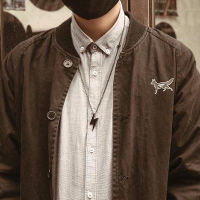 「簡安小鋪」 DISSOLVE項鏈男潮嘻哈日系小眾簡約式潮流街頭潮牌鎖骨鏈復古吊墜D286
