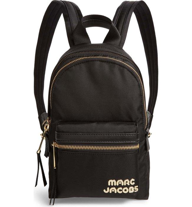 Coco 小舖 MARC JACOBS Trek Pack Mini Nylon Backpack 黑色迷你尼龍後背包