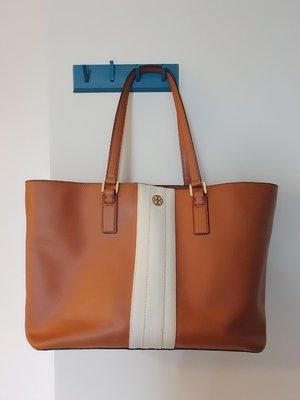Tory Burch Triple Compartment Extra Large Leather Tote Bag/TB絕版特大號托特包/防刮皮革/美國購入