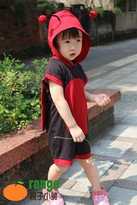 【orange親子小舖】小瓢蟲造形服裝(夏)/萬聖節服裝造型/cosplay兒童表演道具服90-120cm台灣製