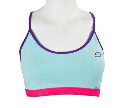 【小黑體育】SKECHERS 女 運動內衣 一般運動 慢跑用(天藍)GW1508/BLU