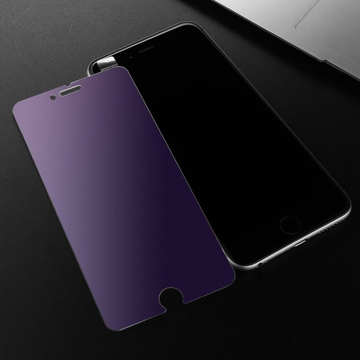 磨砂R11S紫光鋼化膜OPPO R11 R9SPlus A77 A59S手機貼膜抗藍光A57 【桃子雜貨鋪】