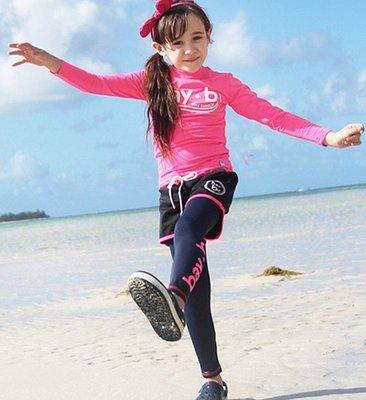 【小阿霏】兒童防曬泳衣 女童粉紅baby長袖三件式泳裝 女孩韓版長袖長褲抗UV速乾泳裝SW88