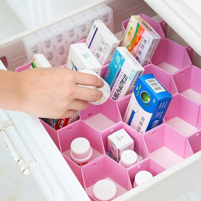 【berry_lin107營業中】抽屜分隔板襪子收納盒格子蜂巢整理隔分割衣柜柜子蜂窩式塑料隔斷