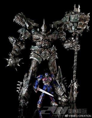 變形玩具金剛絕創G-CREATION 雕像MTST-01 WRATH鋼鎖鋼索擎天OP柱