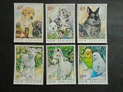 【亂世奇蹟】1999年紐西蘭寵物郵票6全__72
