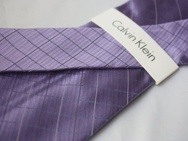 【Calvin Klein CK】100%全新正品 斜紋領帶-紫色【寬版8cm】*領帶兩條95折三條9折*C239