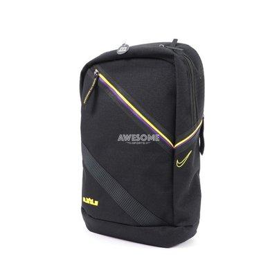 [歐鉉]NIKE LEBRON 刺繡 小LOGO 黑色 筆電包 雙肩包 後背包 運動背包 CT3756-011