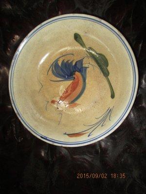 早期 中華手工公雞碗盤B