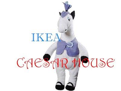 ╭☆凱薩小舖☆╮【IKEA】KLAPPAR CIRKUS, 馬-逼真可愛逗趣玩偶.限量(另售大野狼與奶奶.小紅帽)